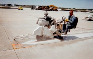 Airport Sawing With Rider Saw