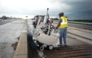New Jersy crash barrier wall cuts